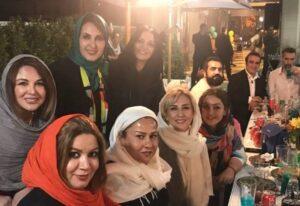 مرجانه گلچین و شهره سلطانی در جشن تولد 55 سالگی فاطمه گودرزی
