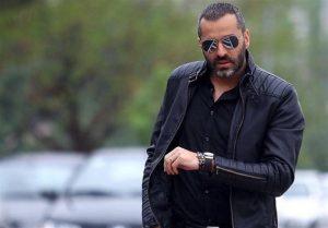 تیپ مشکی علیرام نورایی از بازیگران مرد ایرانی بالای 40 سال