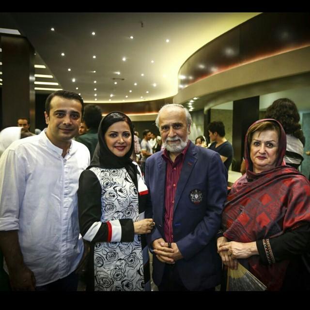 سعید امیرسلیمانی و فرزندانش و همسرش