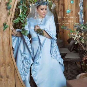 بهاره رهنما در لباس عروس آبی