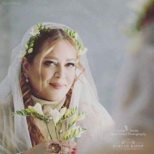 بهاره رهنما با لباس عروس