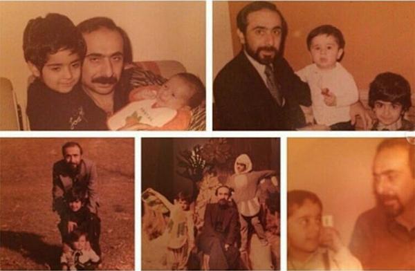 سعید امیرسلیمانی و فرزندانش در کودکی