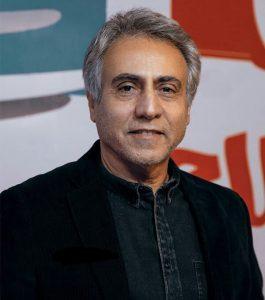 تیپ مشکی بیژن امکانیان از بازیگران مرد ایرانی بالای 40 سال