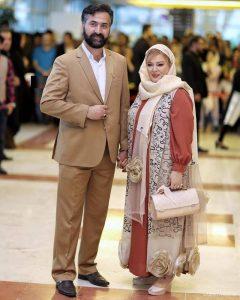 بهاره رهنما و همسرش با لباس رسمی