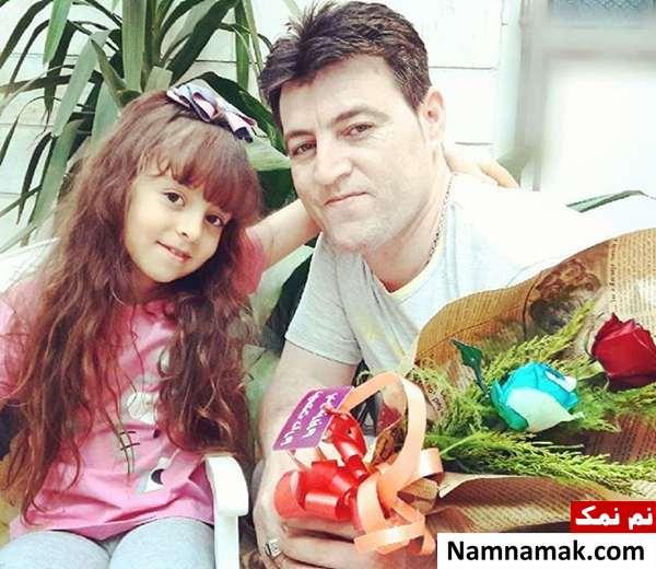 همراز اکبری با پدرش