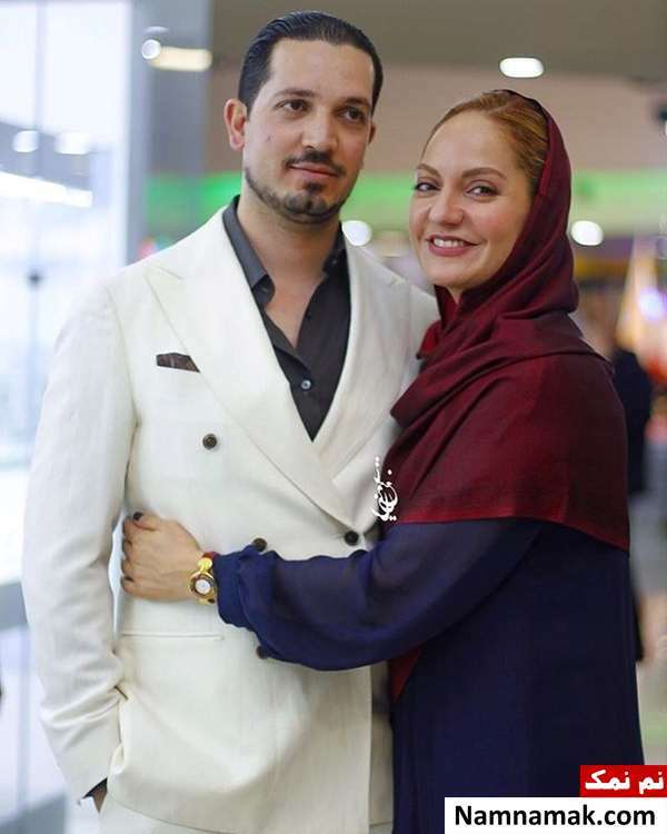 مهناز افشار با شال قرمز و همسرش با کت و شلوار سفید - مهناز افشار عروس شد