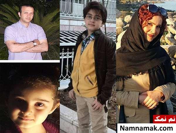 مانیا علیجانی و پدر و مادر و برادرش
