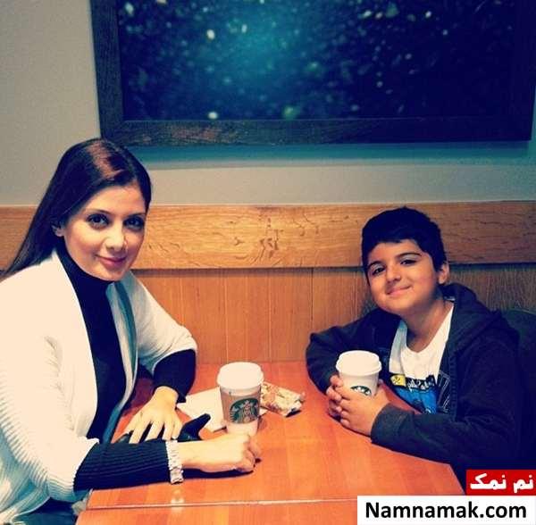 سمیرا سیاح بی حجاب با پسرش در رستوران