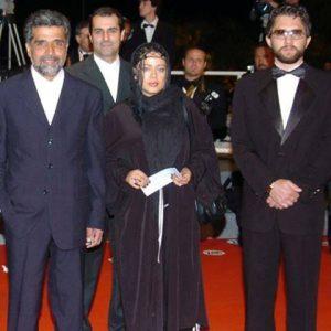 بهاره رهنما و بهرام رادان در اکران گاوخونی در جشنواره کن