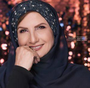 عکس پرتره از زهرا سعیدی با روسری مشکی
