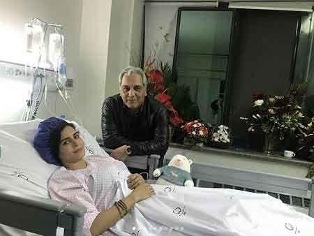 الناز شاکردوست و مهران مدیری در بیمارستان - فیلم حادثه الناز شاکردوست
