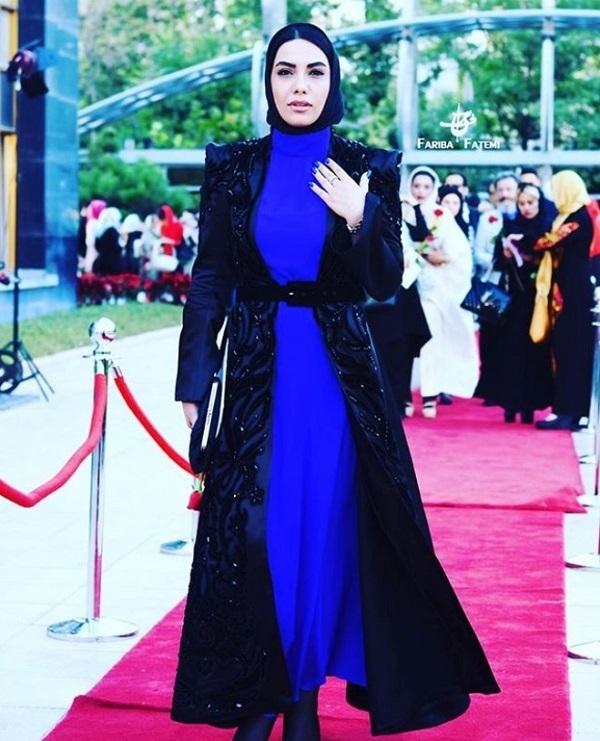 الهه فرشچی با لباس آبی - الهه فرشچی بی حجاب