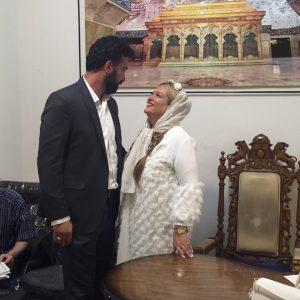 بهاره رهنما و همسرش در روز عقدشان در محضر