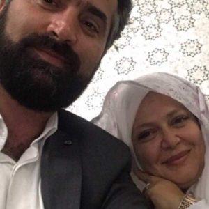 بهاره رهنما و همسرش در روز عقدشان در حرم امام رضا ع)