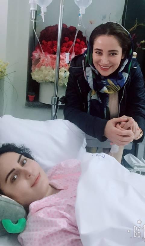 الناز شاکردوست و بهاره افشاری در بیمارستان - فیلم حادثه الناز شاکردوست