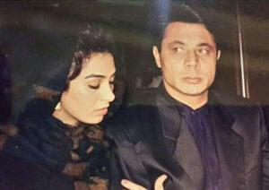 عکس قدیمی نسرین مقانلو در کنار همسرش