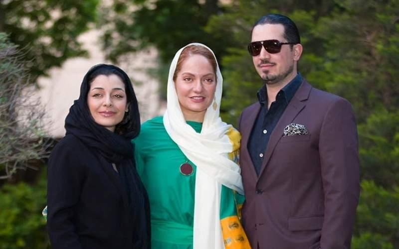 مهناز افشار و همسرش و ساره بیات - مهناز افشار عروس شد