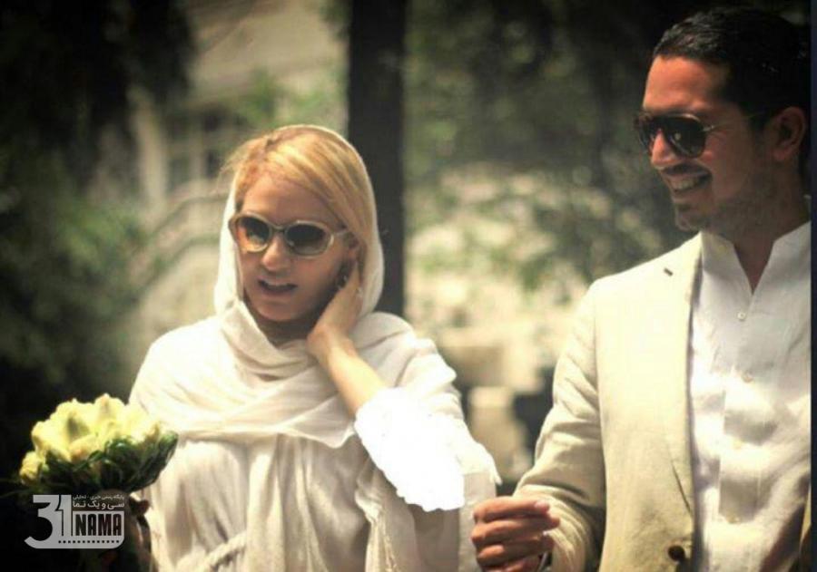 مهناز افشار و همسرش در روز عروسی - مهناز افشار عروس شد
