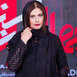 تیپ مشکی لادن مستوفی از بازیگران زن دهه 50