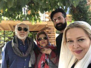 بهاره رهنما در کنار همسر و پدرو مادرش