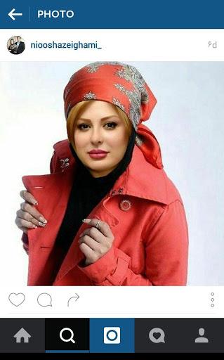نیوشا ضیغمی با لباس قرمز - عکس نیوشا ضیغمی پرسپولیسی