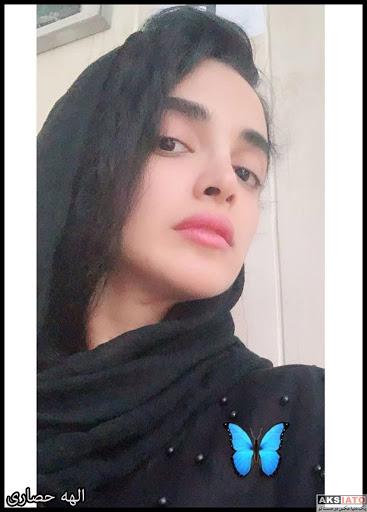 الهه حصاری با شال مشکی - عکس های بدون آرایش الهه حصاری