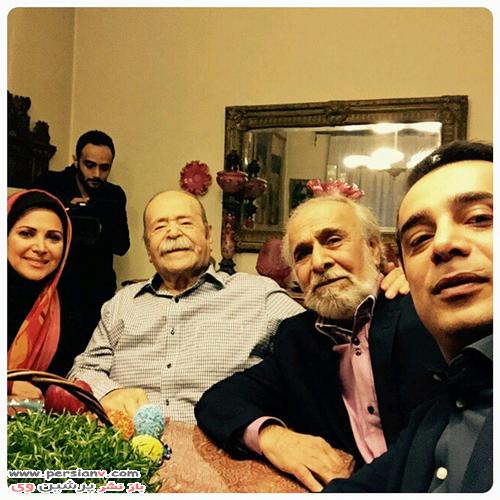 سعید امیرسلیمانی و فرزندانش و مرحوم محمدعلی کشاورز