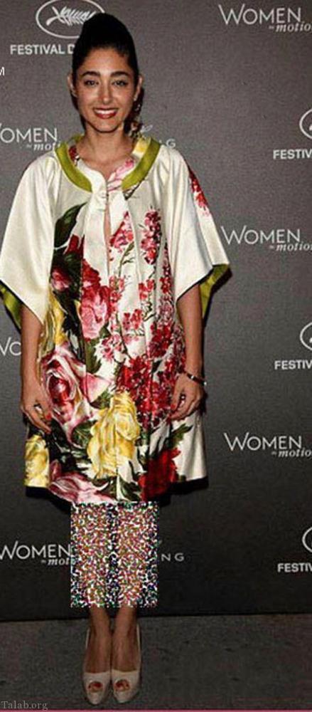 گلشیفته فراهانی بی حجاب با لباس گلدار