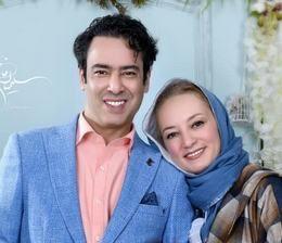 نیمافلاح به همراه همسرش از بازیگران مرد ایرانی بالای 40 سال