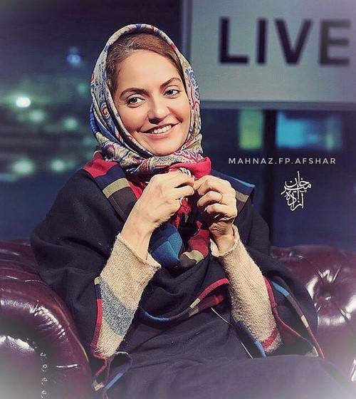مهناز افشار با روسری رنگی - مهریه مهناز افشار