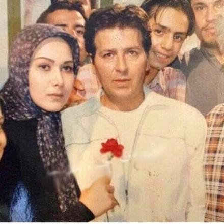 آنا نعمتی با روسری آبی و ابوالفضل پورعرب با کت سفید - طلاق ابوالفضل پور عرب