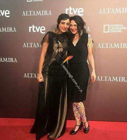 زهرا امیرابراهیمی بی حجاب با لباس مشکی