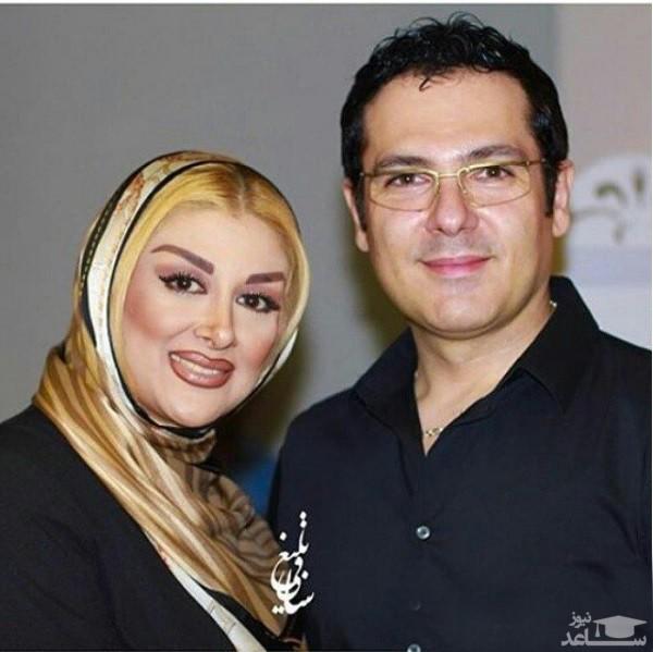 کوروش تهامی و همسر دومش با شال کرم - طلاق کوروش تهامی