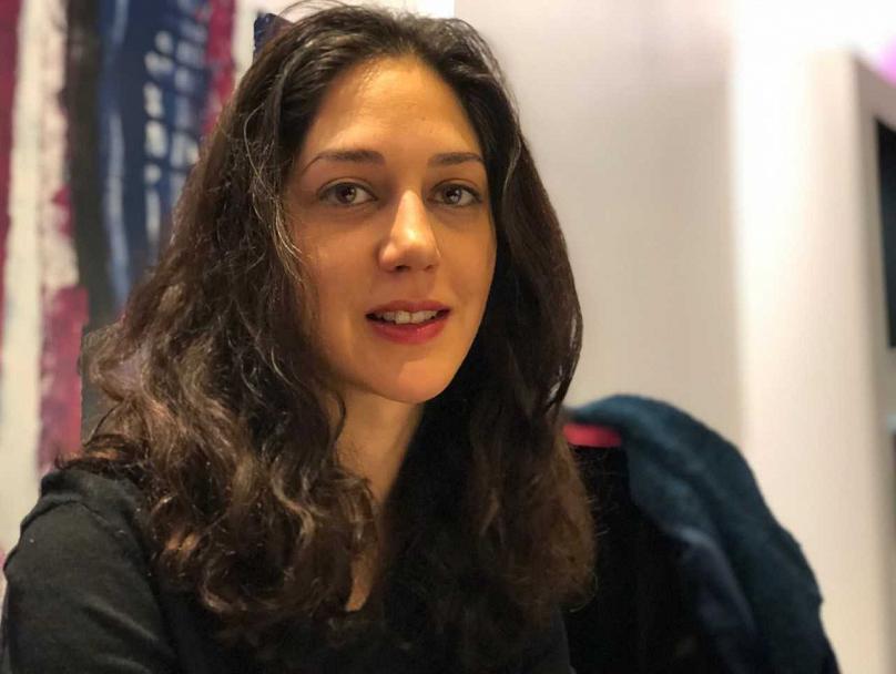 زهرا امیرابراهیمی بی حجاب با موی باز و لباس مشکی