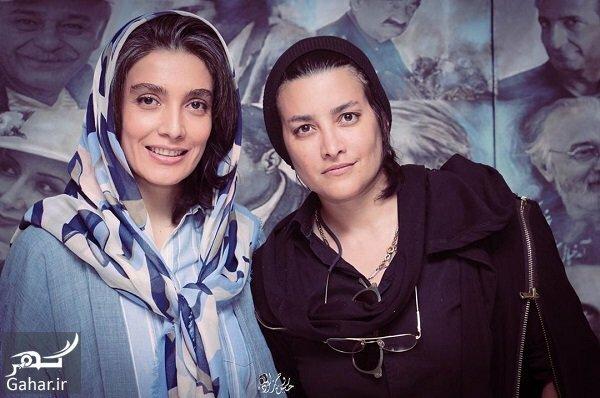 مونا بانکی پور با لباس مشکی و لیلا زارع با لباس آبی - طلاق امین حیایی