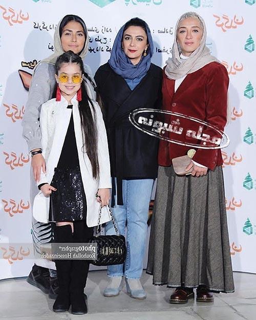 ترنم کرمانیان با کت سفید و عینک و پانه آ پناهی ها،الهام کردا و هدی زین العابدین
