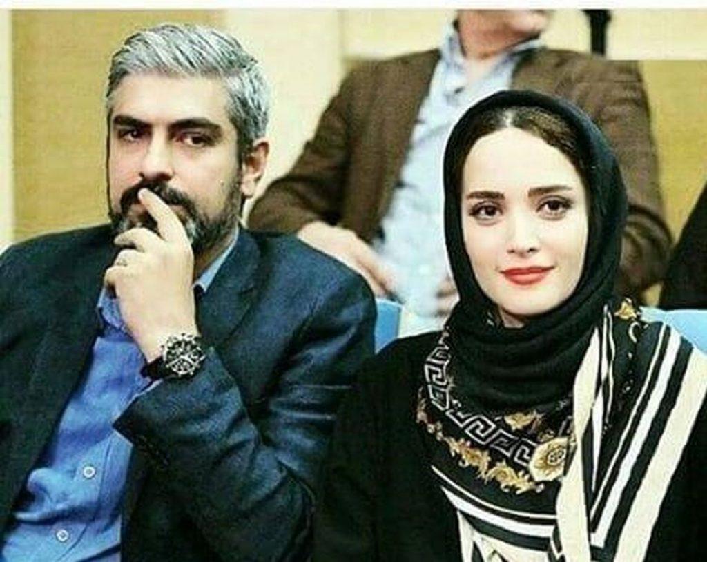 مهدی پاکدل و بهنوش طباطبایی با روسری مشکی