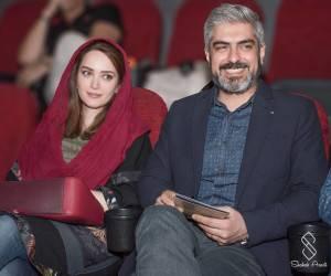 مهدی پاکدل و بهنوش طباطبایی با شال قرمز