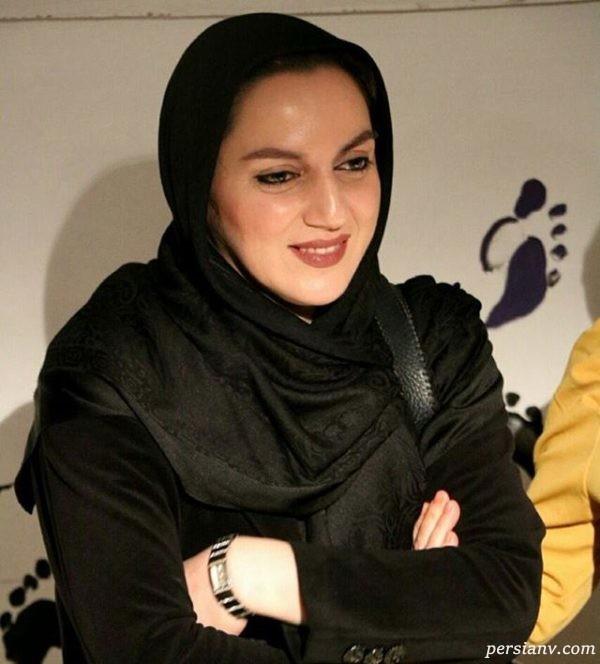 نسرین بابایی بازیگر گیلانی با روسری مشکی