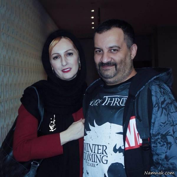 مهراب قاسمخانی و شقایق دهقان با شال مشکی