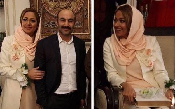 محسن تنابنده چپ دست با همسرش