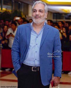 مهران مدیری از بازیگران مرد ایرانی با کت شلوار