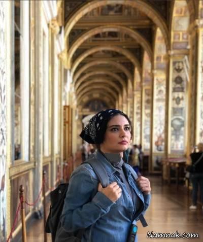 عکس لیندا کیانی در روسیه با لباس جین