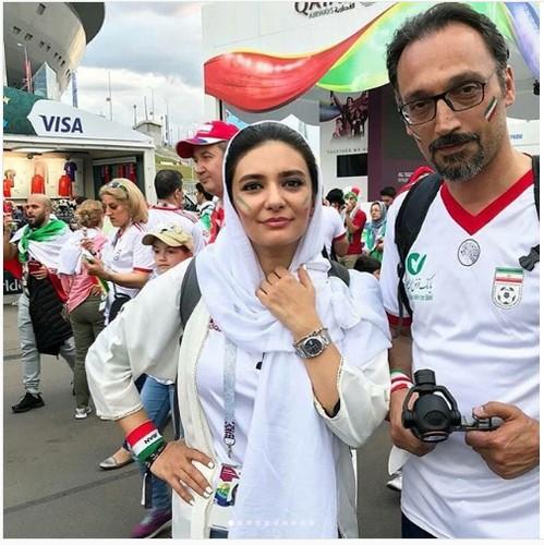 عکس لیندا کیانی در روسیه با لباس سفید