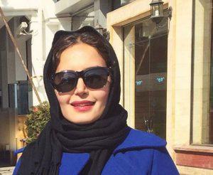 الناز شاکردوست از بازیگران زن ایرانی با عینک دودی