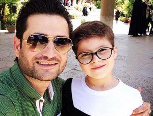 پویا امینی از بازیگران مرد ایرانی با عینک