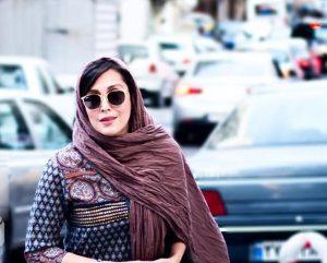 مهتاب کرامتی از بازیگران زن ایرانی با عینک دودی