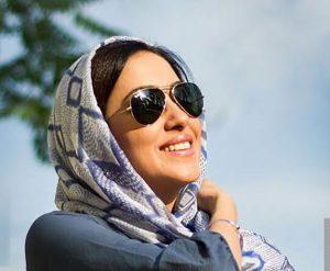 بهاره کیان افشار از بازیگران زن ایرانی با عینک دودی