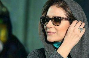 سحر دولتشاهی از بازیگران زن ایرانی با عینک دودی