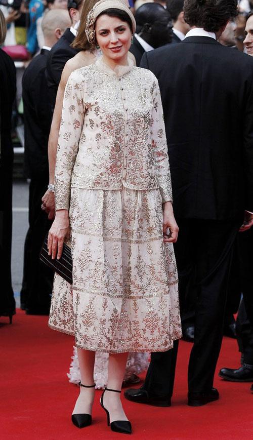 لیلا حاتمی جشنواره کن با لباس کرم